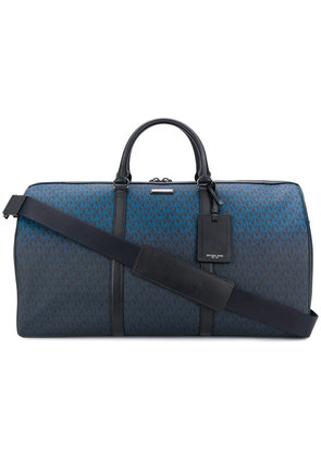 Michael Kors Collection logo print holdall - Blue