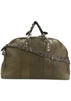 Ivo Scunzani stud-detail holdall - Green