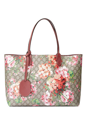Gucci Reversible GG Blooms leather tote - Nude & Neutrals