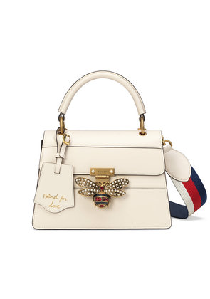 Gucci Queen Margaret small top handle bag - White