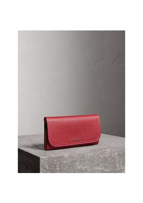 Burberry Colour Block Continental Wallet and Coin Case