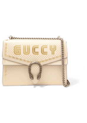 Gucci - Dionysus Printed Leather Shoulder Bag - White