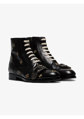Gucci Queercore embroidered brogue boot