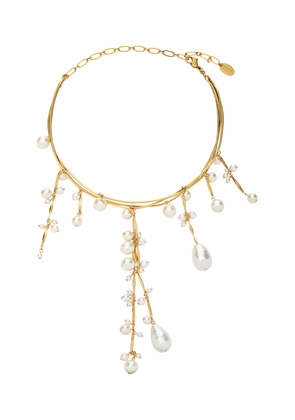 Erickson Beamon Pretty Woman 24K Gold-Plated Crystal And Pearl Necklace