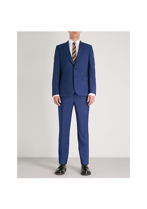 Soho-fit wool and mohair-blend travel suit