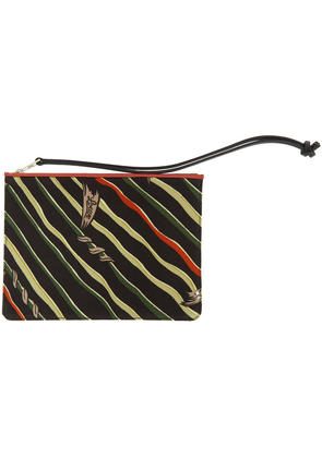 Loewe Black and Red Paulas Ibiza Edition Flag Print Pouch