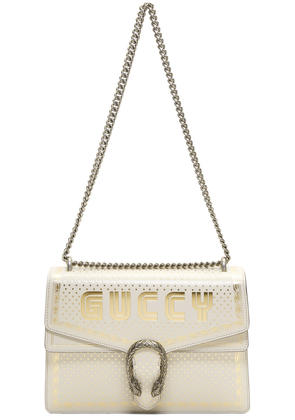 Gucci White Medium guccy All Over Dionysus Bag