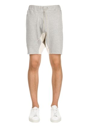 COTTON SWEAT SHORTS WITH SIDE ZIP
