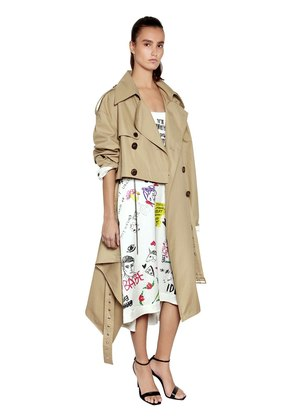 REVERSIBLE DECONSTRUCTED TRENCH COAT