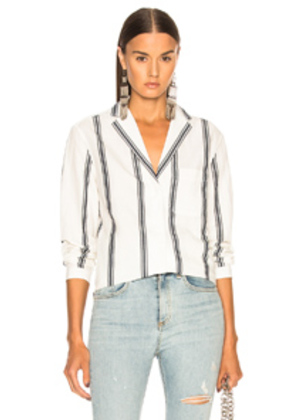 Rag & Bone Alyse Shirt in Blue,Stripes,White