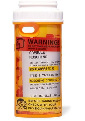 Moschino Woman Printed Silicone Iphone 6/ 6s Case Orange Size -