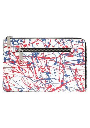 Marc Jacobs Woman Printed Leather Tablet Case White Size -