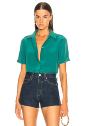 Equipment Paulette Blouse in Green