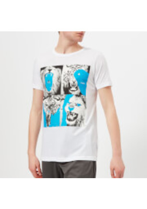 adidas by kolor Men's Graphic Short Sleeve T-Shirt - White - S - White