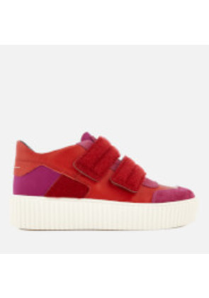 MM6 Maison Margiela Women's Chunky Sole Double Velcro Strap Trainers - Pink/Red - EU 37/UK 4 - Pink