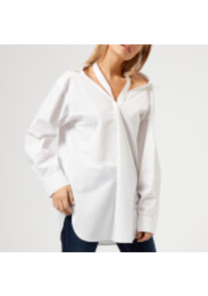 T by Alexander Wang Women's Cotton Poplin Shirt with Neck Twill Tape Detail - White - US 6/UK 10 - White