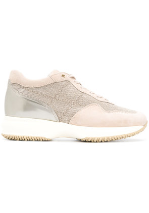 Hogan lace-up sneakers - Nude & Neutrals