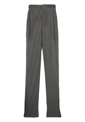 Giorgio Armani striped loose fit trousers - Black