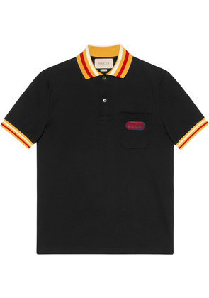 Gucci Polo with Gucci patch - Black