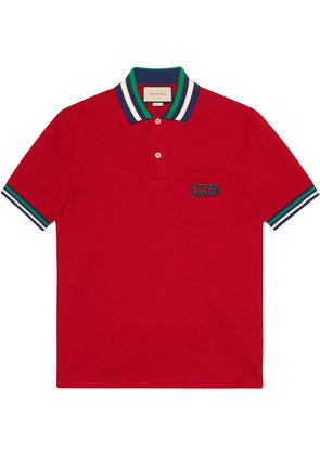 Gucci Polo with Gucci patch - Red