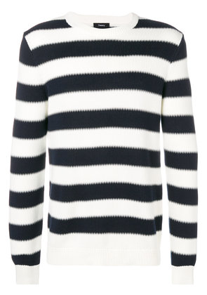 Theory striped crewneck sweater - White