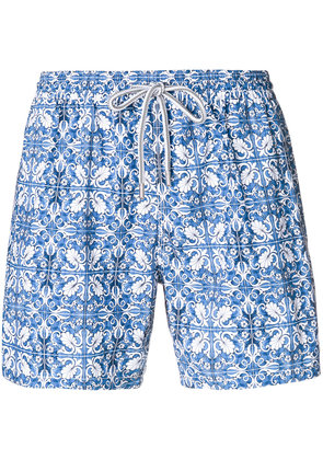 Capricode printed swim shorts - Blue