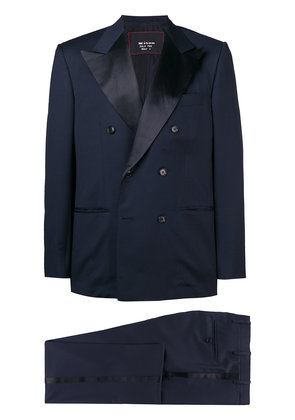 Kiton Smoking double breasted tuxedo - Blue