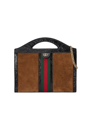 Gucci Ophidia medium top handle tote - Brown