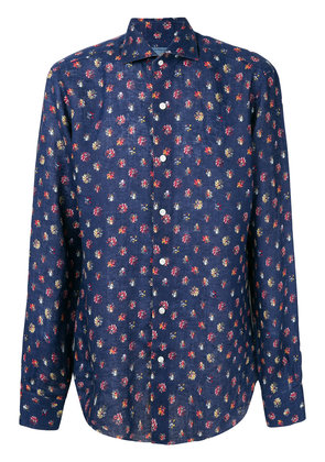 Barba floral printed blouse - Blue
