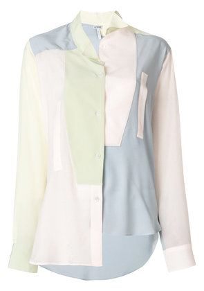 Loewe asymmetric oversized shirt - Multicolour