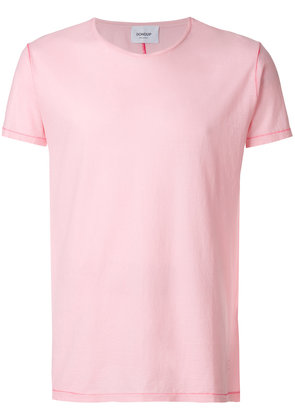 Dondup contrast stitch T-shirt - Pink & Purple