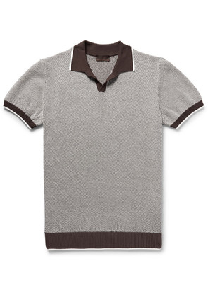 Slim-fit Textured-cotton Polo Shirt