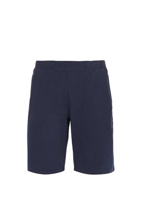 Mid-rise cotton-jersey shorts