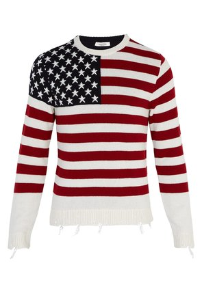 Flag cashmere sweater