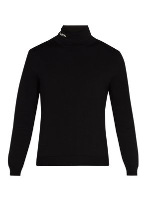 Logo roll-neck jersey sweater