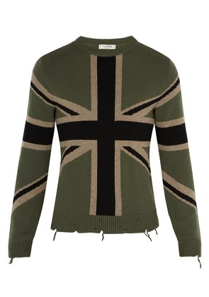 Union flag cashmere sweater