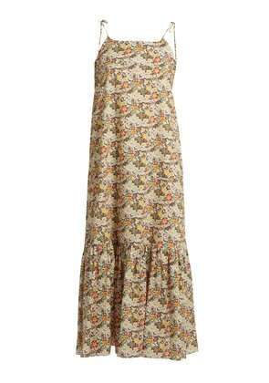 Kalahari floral-print cotton maxi dress