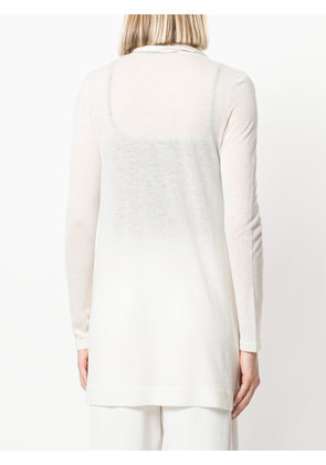 Theory long knitted cardigan - White