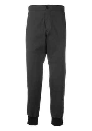 Emporio Armani gathered-ankles chinos - Grey