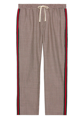 Gucci Houndstooth wool mohair pant - Multicolour