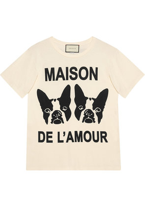 Gucci 'Maison de l'Amour' T-shirt with Bosco and Orso - White
