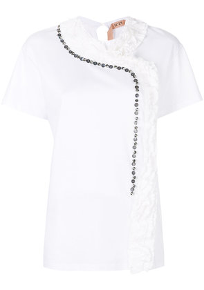 No21 Mother of Pearl T-shirt - White