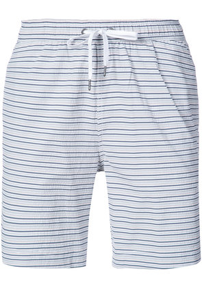 Onia Charles 7' striped swim trunks - Blue