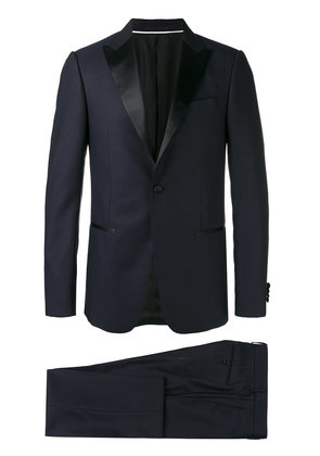 Z Zegna peaked lapel two-piece suit - Black