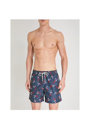 Traveller relaxed-fit anchor-print swim shorts
