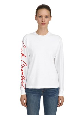 CINDY CRAWFORD COTTON JERSEY T-SHIRT