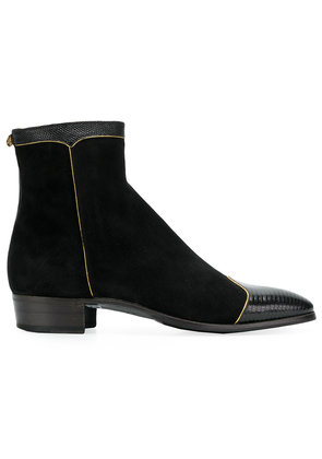 Gucci panelled ankle boots - Black