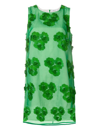 P.A.R.O.S.H. embroidered floral dress - Green