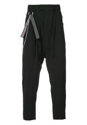 Chapter drop-crotch trousers - Black