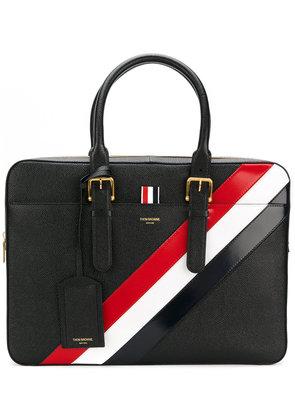 Thom Browne Business Bag With Red, White And Blue Diagonal Stripe In